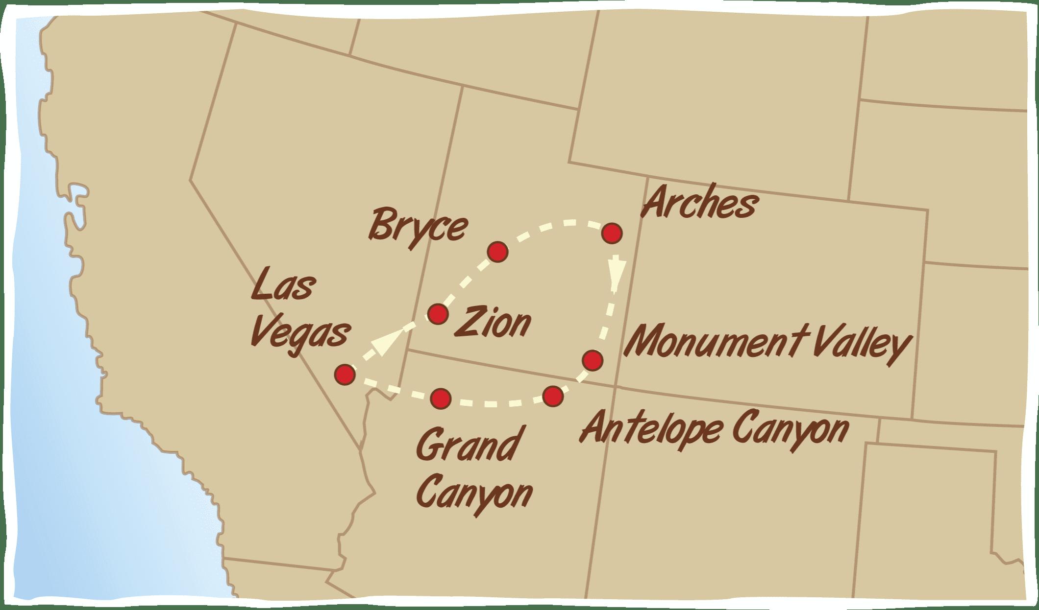 Canyons of the West Las Vegas – Green Tortoise Adventure Travel on map of arizona az, map of colorado river az, map of monument valley az, map of black mesa az, map of phoenix az, map of tombstone az, map of cameron az, map of shiprock az, map of jerome az, map of page az, map of tucson az, map of flagstaff az, map of painted desert az, map of wyoming az, map of bryce az, map of petrified forest az, map of havasupai falls az, map of west clear creek wilderness az, map of coyote buttes az, map of navajo az,